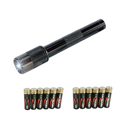Ansmann Taschenlampe mit 12 Mignon-Batterien, Artikelnummer: L-011002