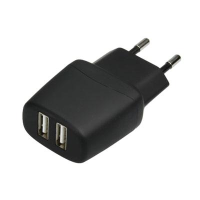 Fontastic Netzadapter mit 2 USB-Buchsen, Artikelnummer: UZ-990034