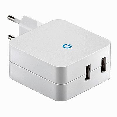 goobay Netzadapter mit 2 USB-Buchsen, Artikelnummer: UZ-990062