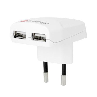 Skross Netzadapter mit 2 USB-Buchsen, Artikelnummer: UZ-990079
