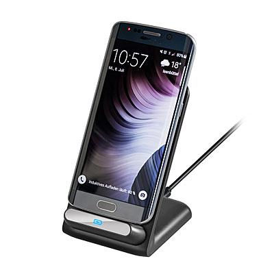 goobay Handy-Tischladestation für Smartphones mit Qi-Ladefunktion, Artikelnummer: UZ-990085