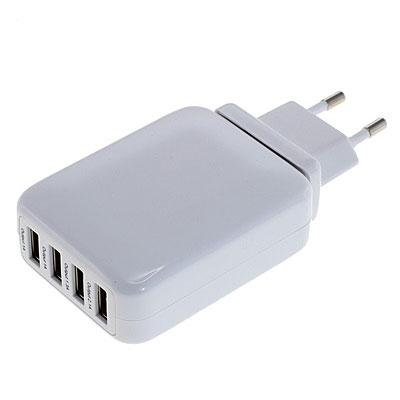 OTB Handy-Netzadapter mit 4 USB-Buchsen, Artikelnummer: UZ-990087